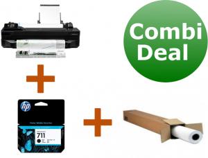 Combi deal: HP Designjet T120 ePrinter + Inkcartridge zwart + papier-0