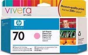 HP 70 (C9455A) inktcartridge licht magenta (origineel)-0