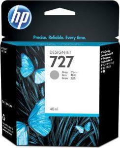HP 727 (B3P18A) inktcartridge grijs (origineel)-0